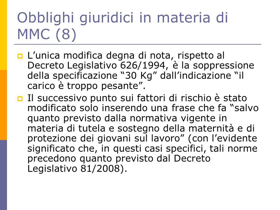 Obblighi giuridici in materia di MMC (8)