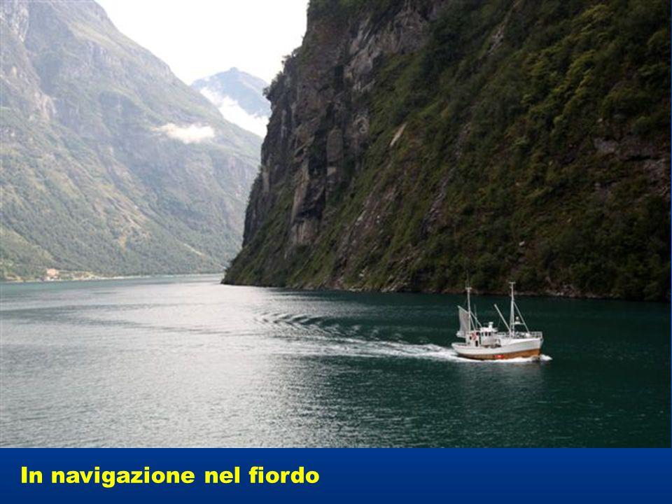 In navigazione nel fiordo