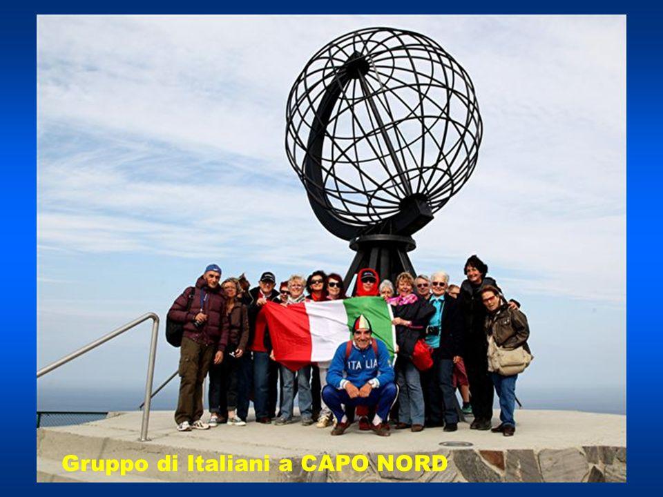 Gruppo di Italiani a CAPO NORD