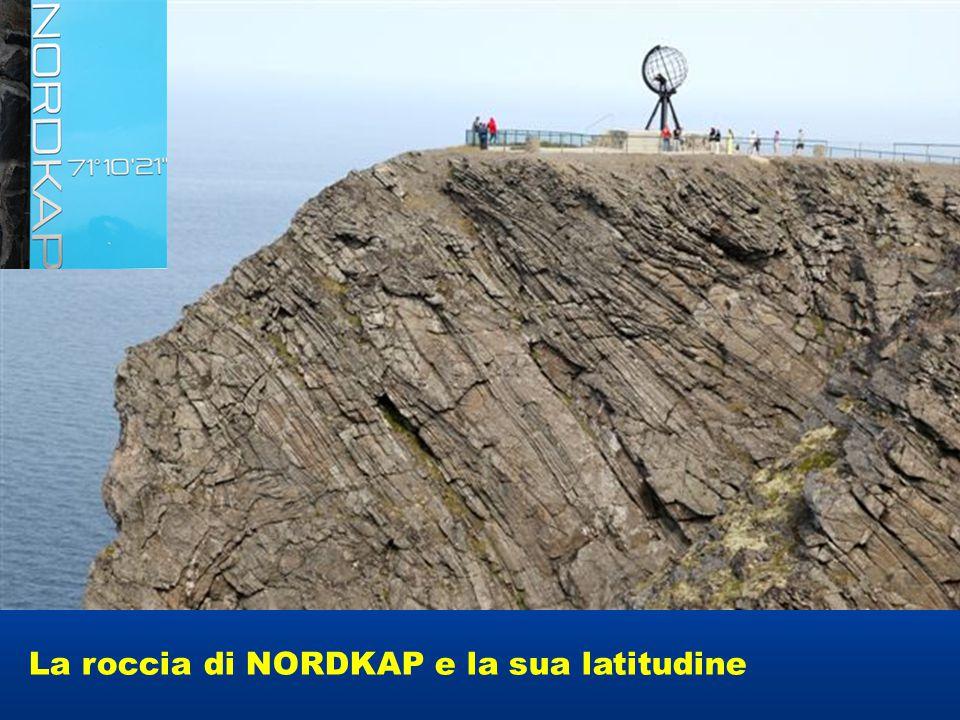 La roccia di NORDKAP e la sua latitudine