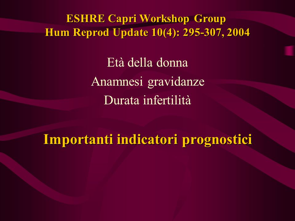 ESHRE Capri Workshop Group Hum Reprod Update 10(4): 295-307, 2004