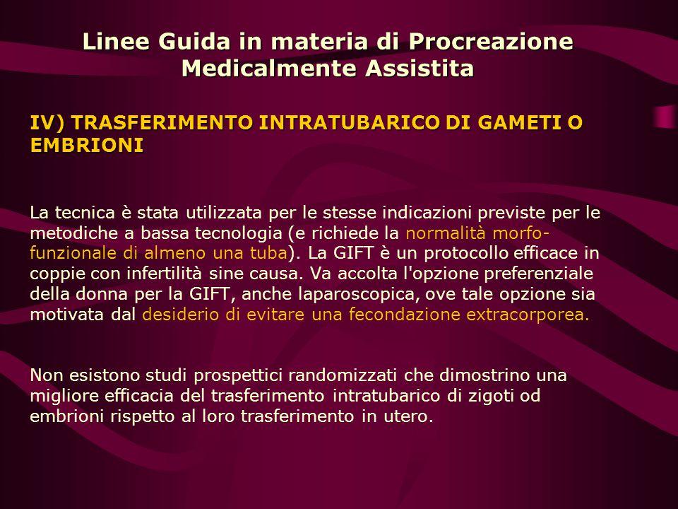 Linee Guida in materia di Procreazione Medicalmente Assistita