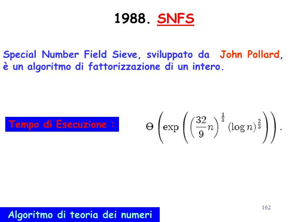 Algoritmo di teoria dei numeri