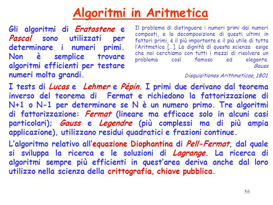 Algoritmi in Aritmetica