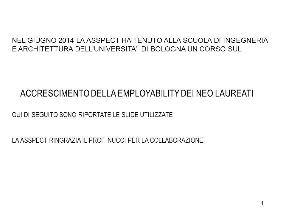ACCRESCIMENTO DELLA EMPLOYABILITY DEI NEO LAUREATI