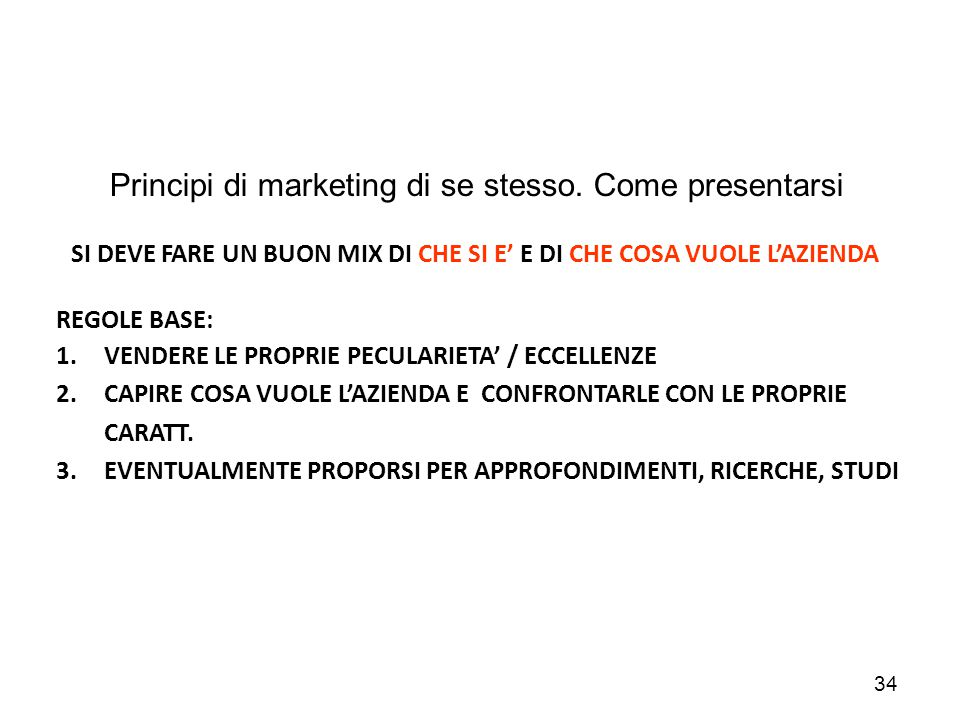 Principi di marketing di se stesso. Come presentarsi