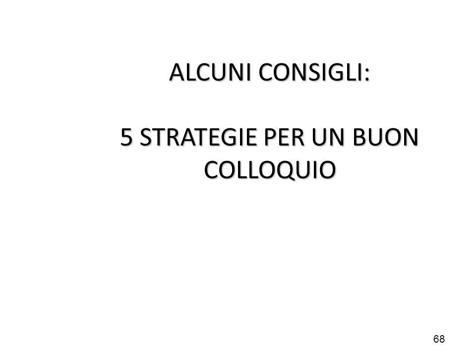 ALCUNI CONSIGLI: 5 STRATEGIE PER UN BUON COLLOQUIO