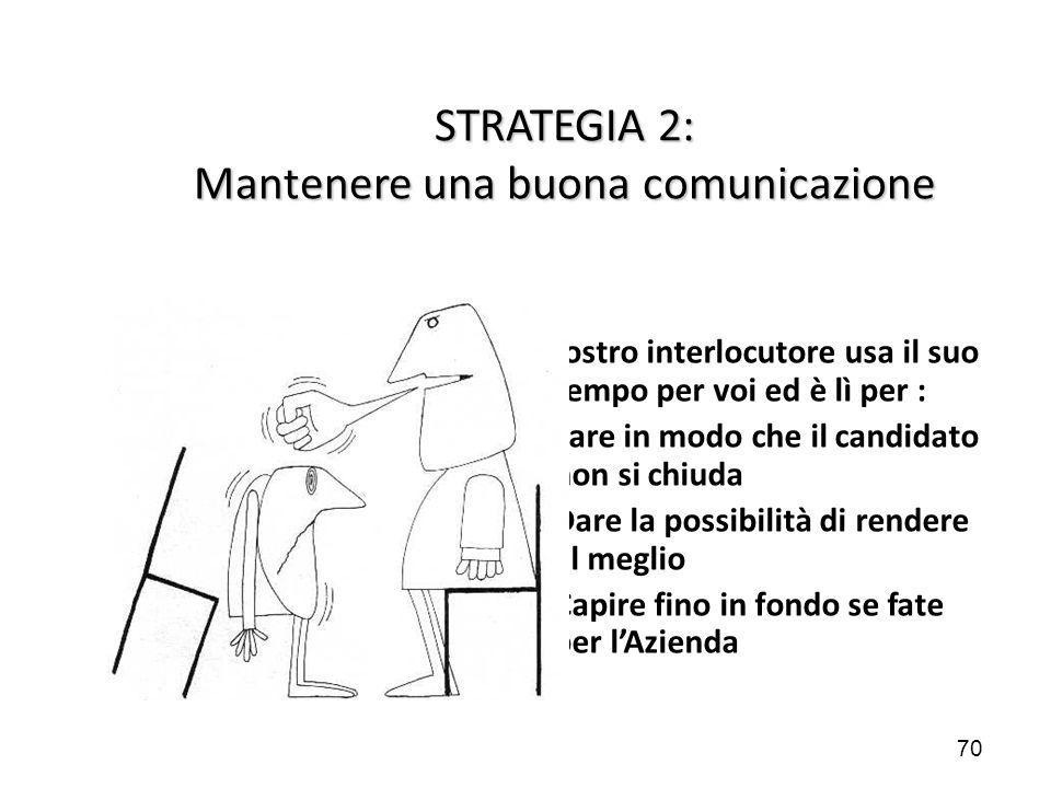 STRATEGIA 2: Mantenere una buona comunicazione