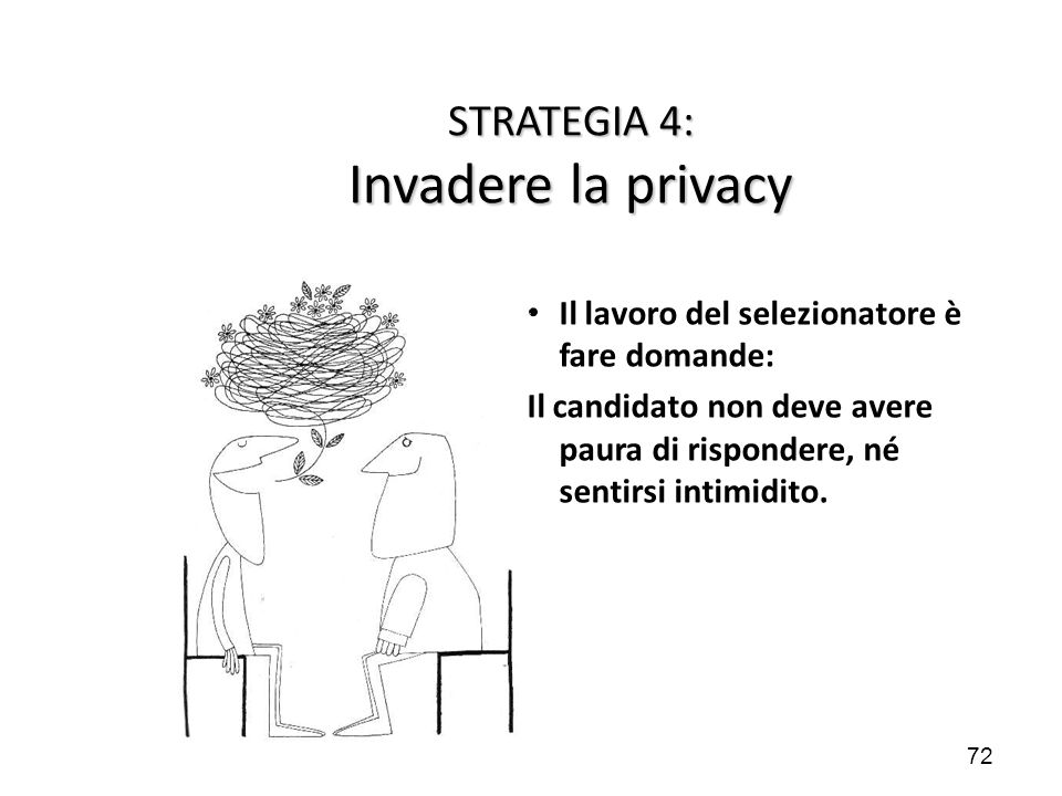STRATEGIA 4: Invadere la privacy