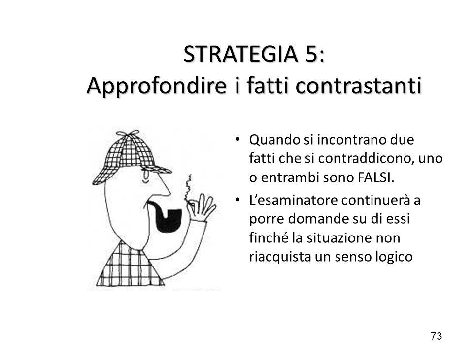 STRATEGIA 5: Approfondire i fatti contrastanti