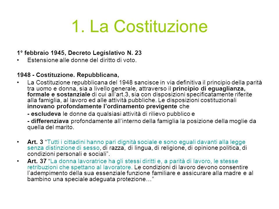 1. La Costituzione 1° febbraio 1945, Decreto Legislativo N. 23
