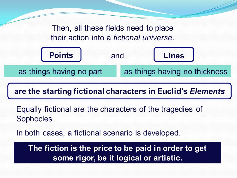 are the starting fictional characters in Euclid's Elements