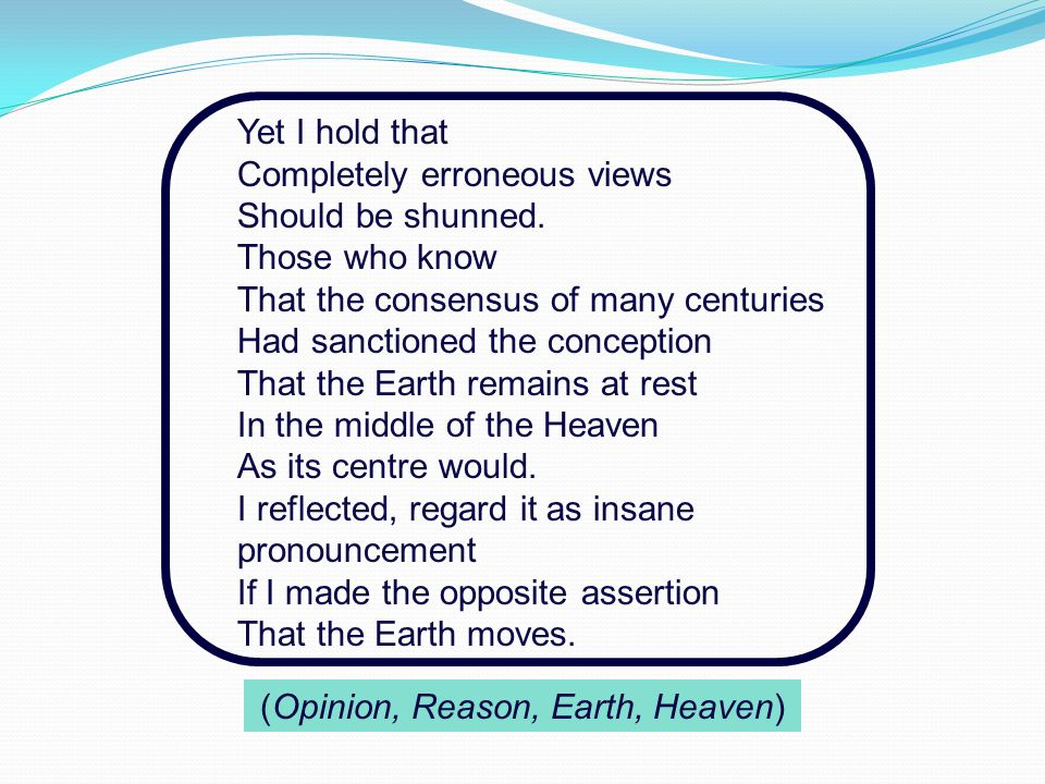 (Opinion, Reason, Earth, Heaven)