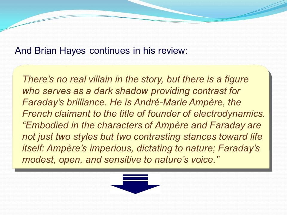 And Brian Hayes continues in his review: