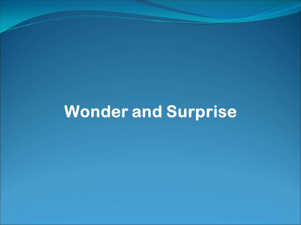 Wonder and Surprise