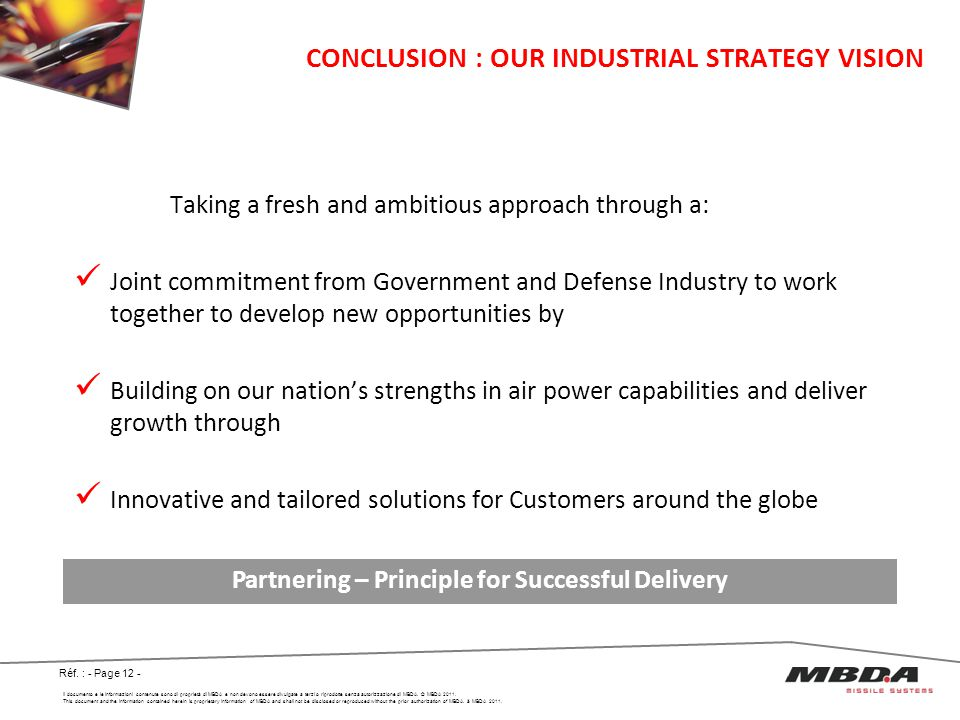 CONCLUSION : OUR INDUSTRIAL STRATEGY VISION