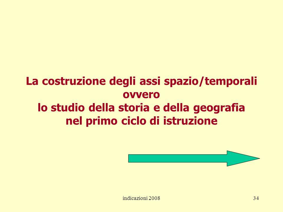 La costruzione degli assi spazio/temporali ovvero lo studio della storia e della geografia nel primo ciclo di istruzione