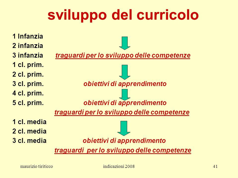 sviluppo del curricolo