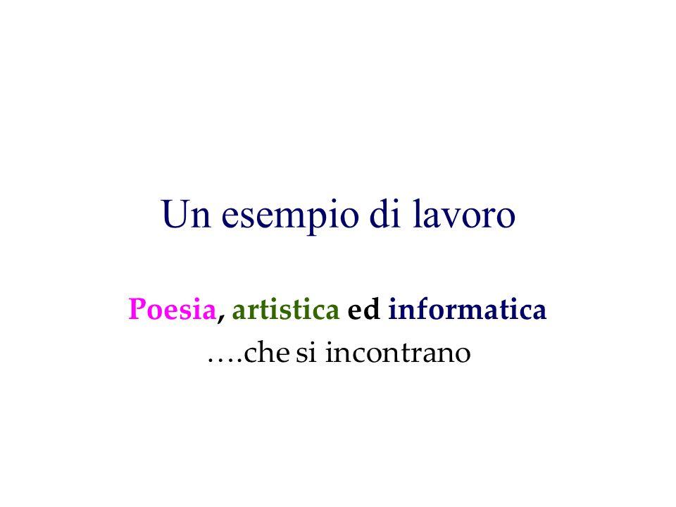 Poesia, artistica ed informatica ….che si incontrano