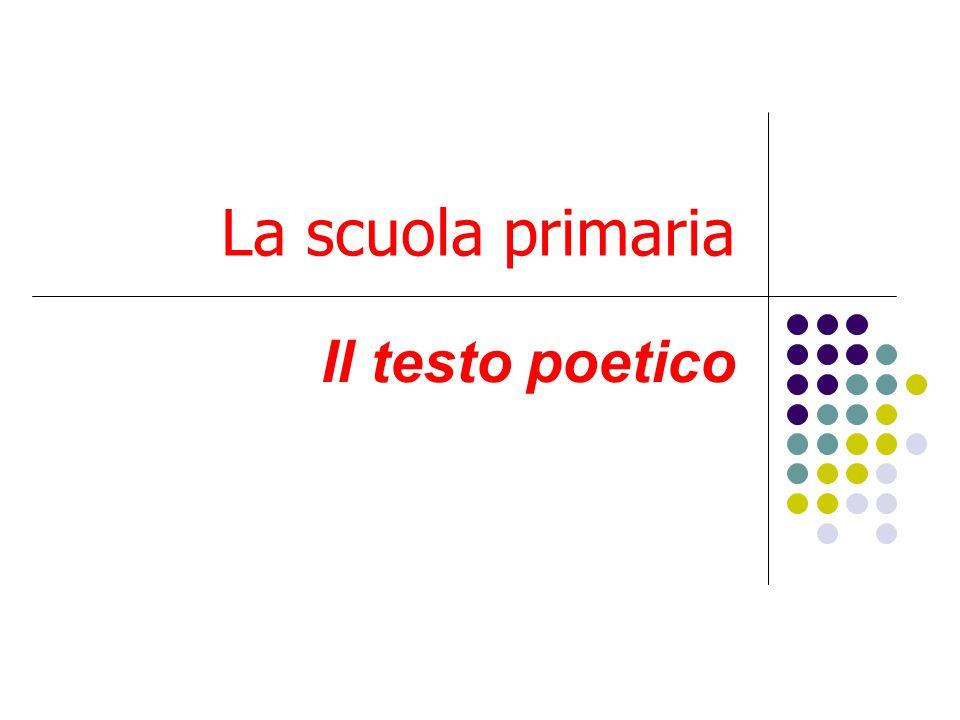 La scuola primaria Il testo poetico