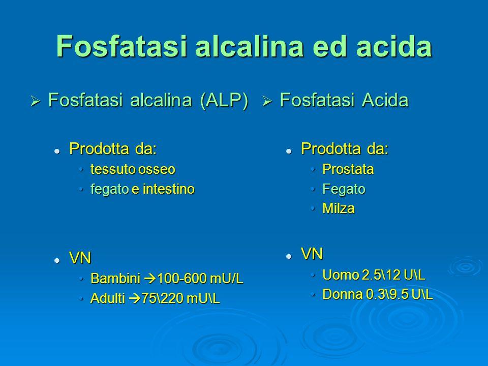 Fosfatasi alcalina ed acida
