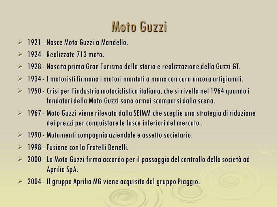 Moto Guzzi 1921 - Nasce Moto Guzzi a Mandello.