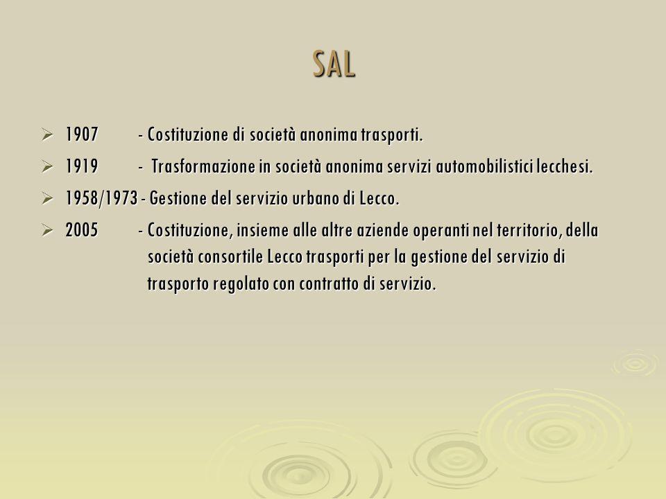 SAL 1907 - Costituzione di società anonima trasporti.