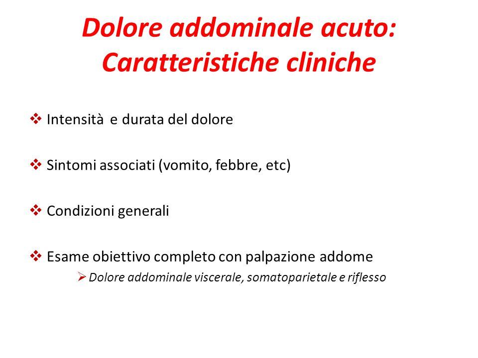 Dolore addominale acuto: Caratteristiche cliniche