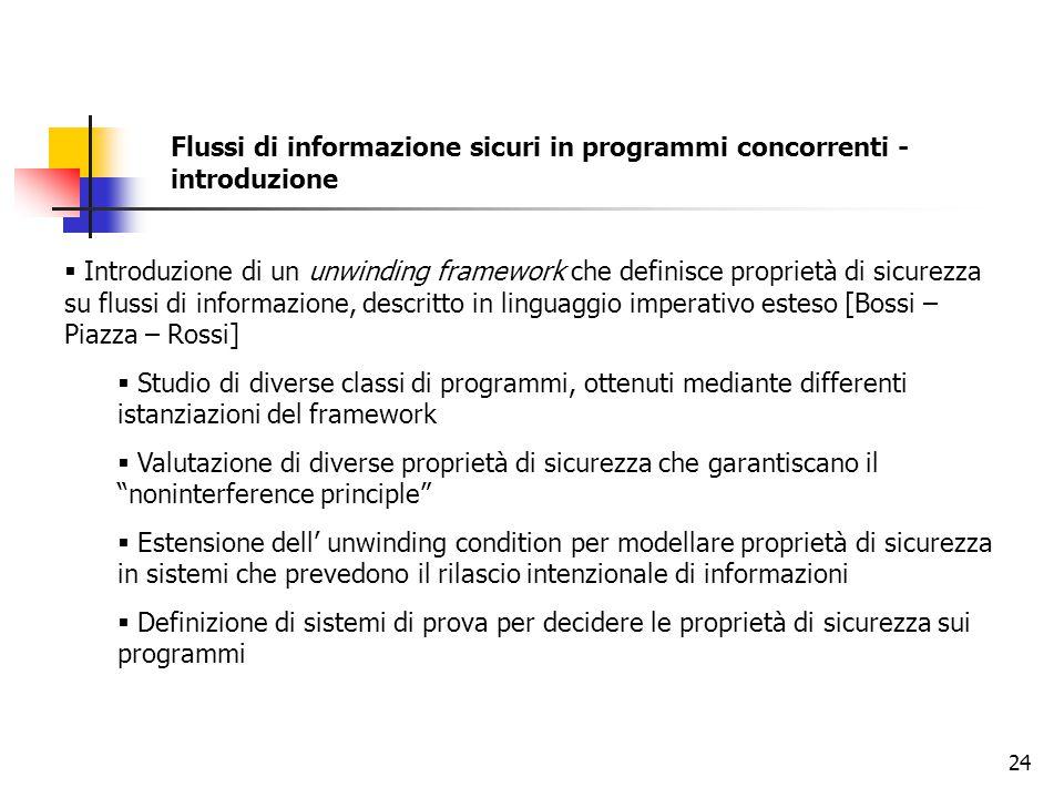 Flussi di informazione sicuri in programmi concorrenti - introduzione