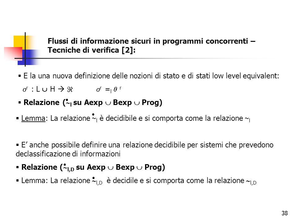 Relazione (l su Aexp  Bexp  Prog)
