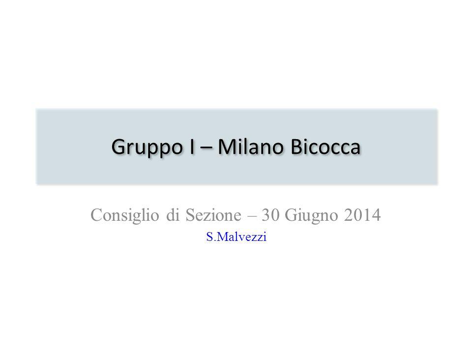 Gruppo I – Milano Bicocca