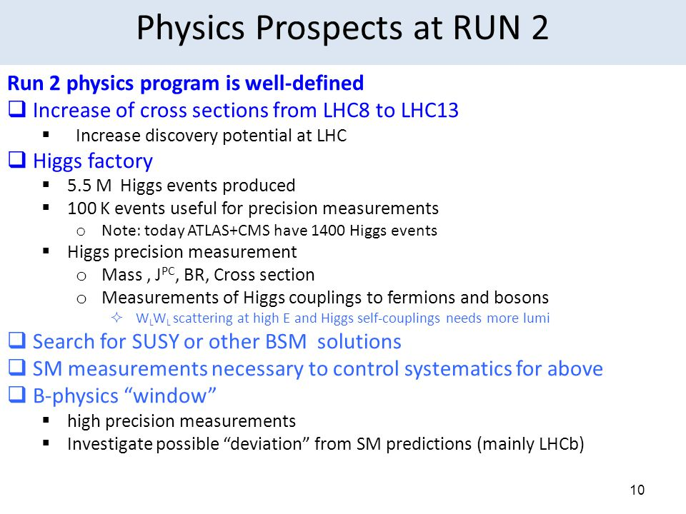 Physics Prospects at RUN 2