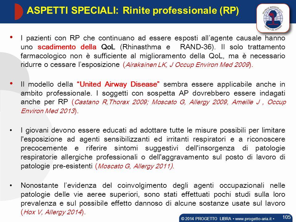 ASPETTI SPECIALI: Rinite professionale (RP)