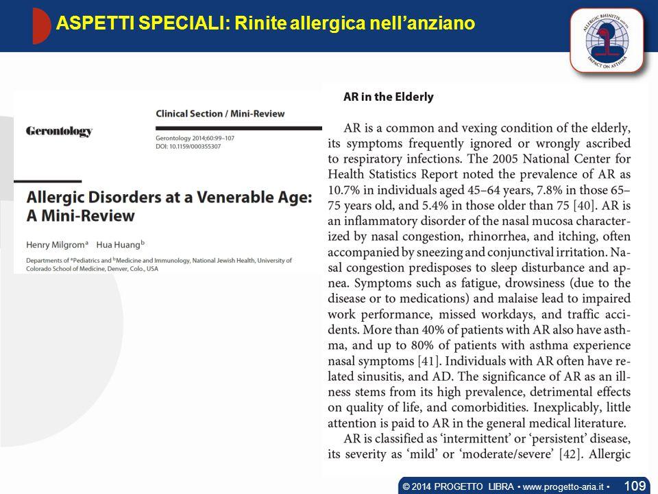 ASPETTI SPECIALI: Rinite allergica nell'anziano