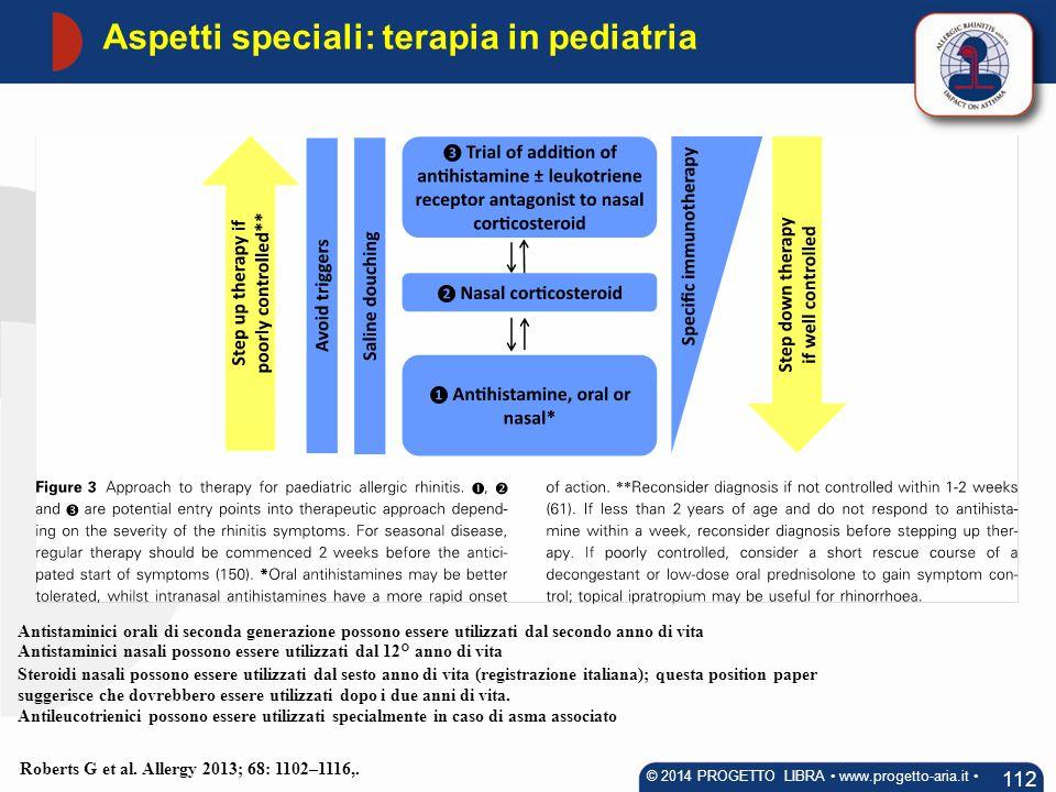Aspetti speciali: terapia in pediatria