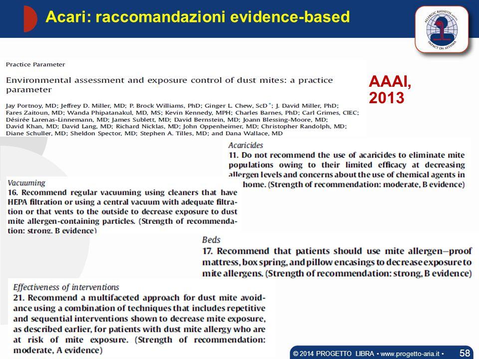 Acari: raccomandazioni evidence-based