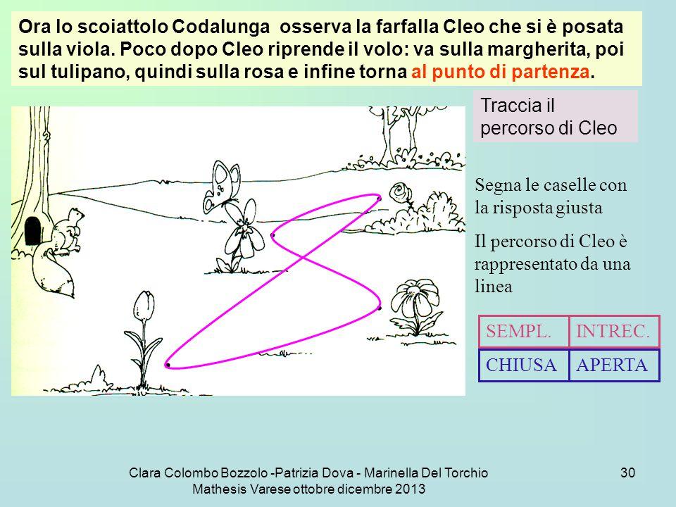 Traccia il percorso di Cleo