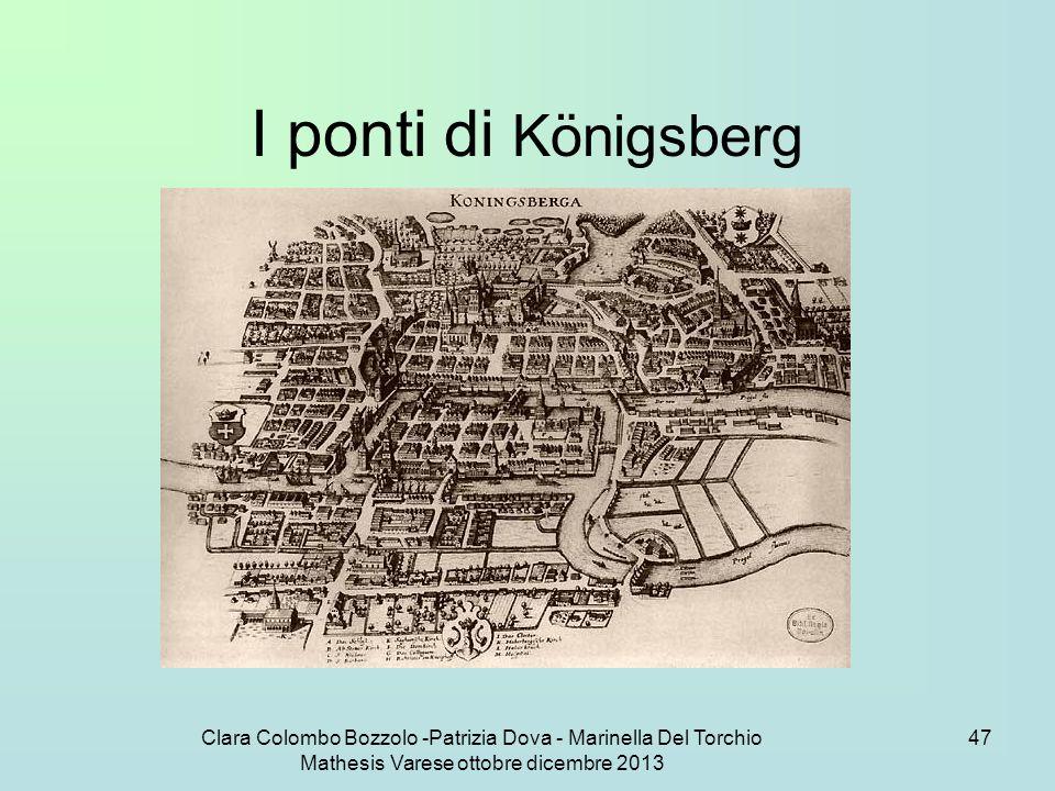 I ponti di Königsberg Clara Colombo Bozzolo -Patrizia Dova - Marinella Del Torchio Mathesis Varese ottobre dicembre 2013.