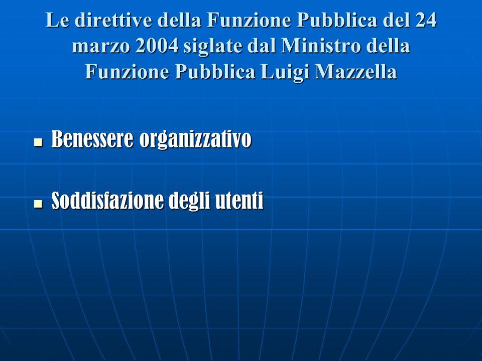Le direttive della Funzione Pubblica del 24 marzo 2004 siglate dal Ministro della Funzione Pubblica Luigi Mazzella