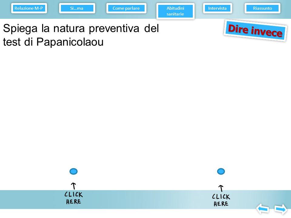 Spiega la natura preventiva del test di Papanicolaou