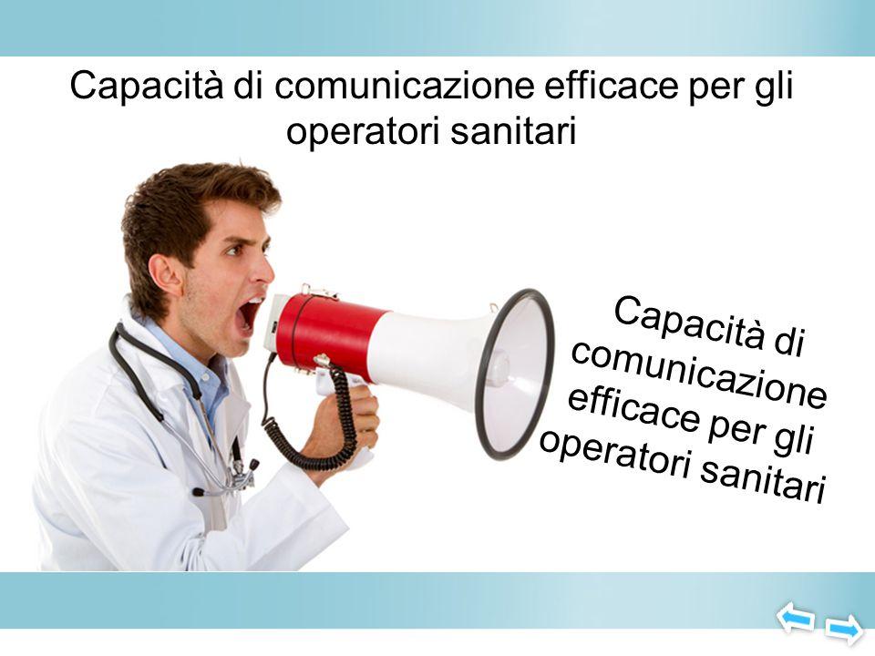 Capacità di comunicazione efficace per gli operatori sanitari