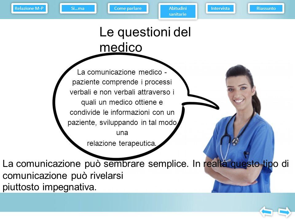 Le questioni del medico