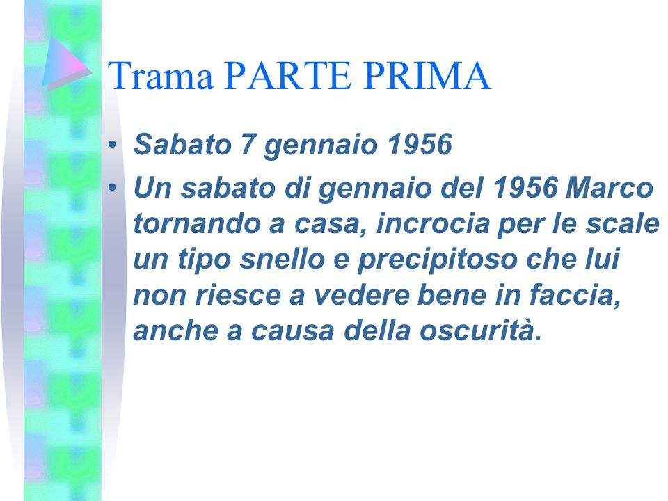 Trama PARTE PRIMA Sabato 7 gennaio 1956