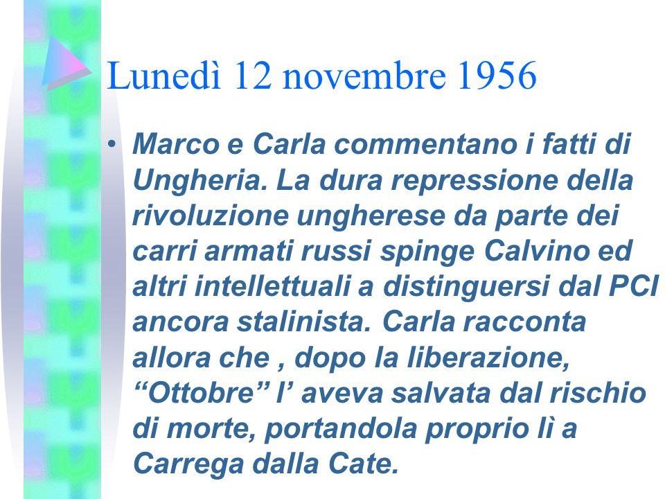 Lunedì 12 novembre 1956
