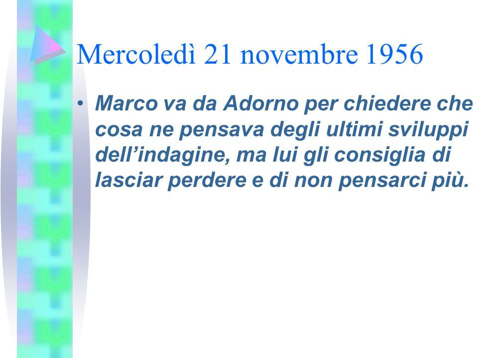 Mercoledì 21 novembre 1956
