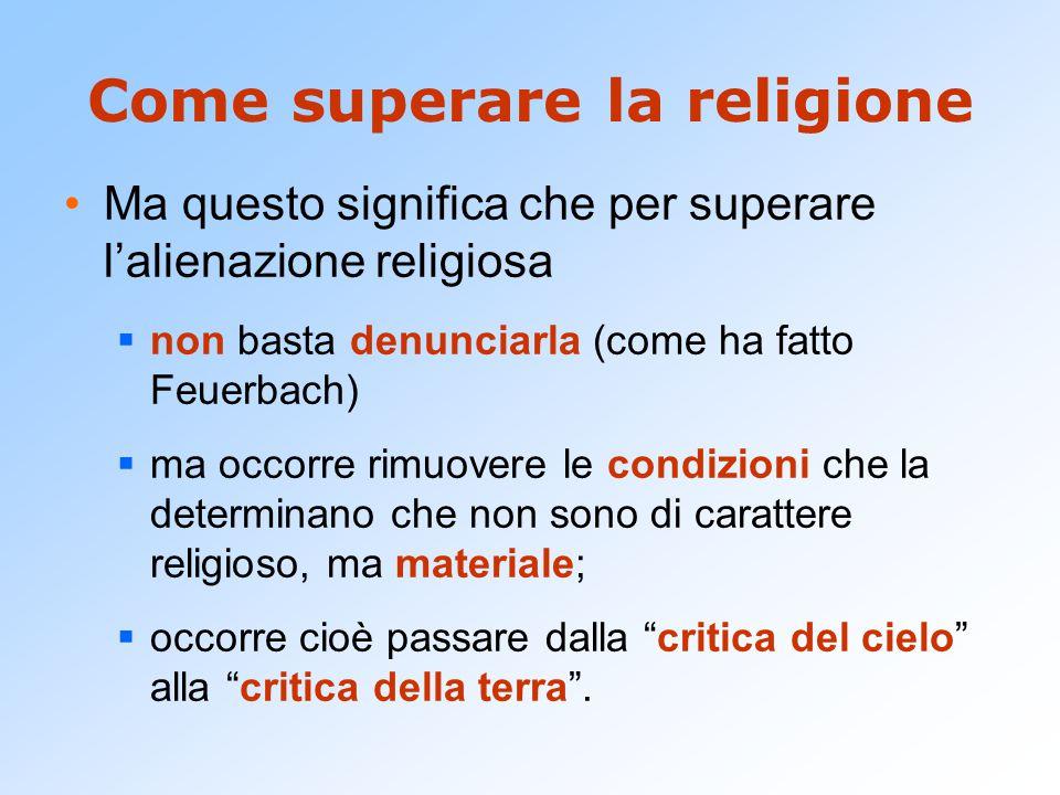 Come superare la religione