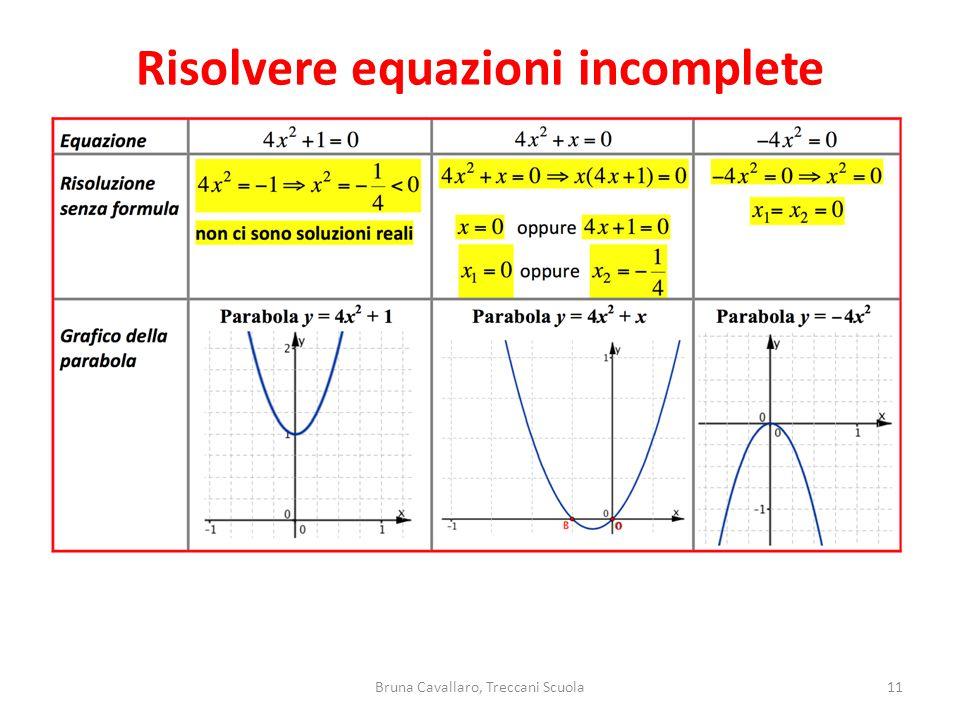 Risolvere equazioni incomplete