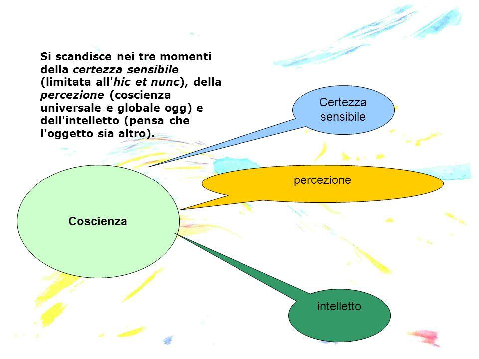 Certezza sensibile percezione Coscienza intelletto