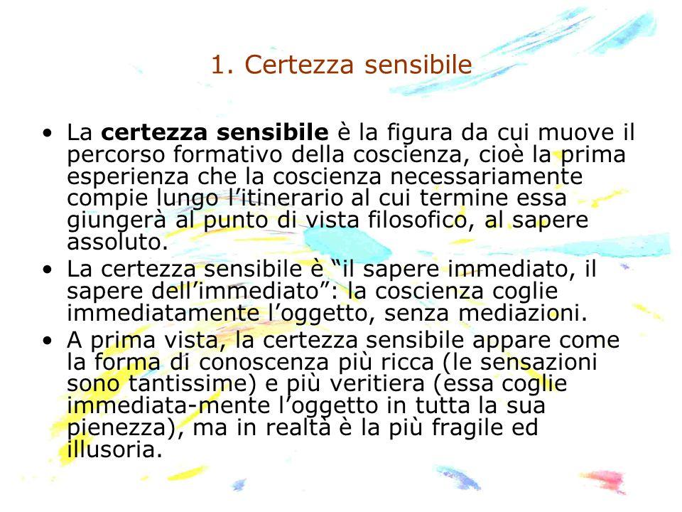 1. Certezza sensibile
