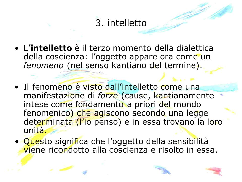 3. intelletto